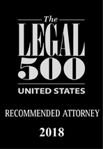 Legal 500 Recommended Attorney 2018